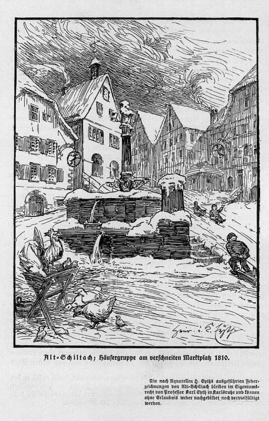 1810 Marktplatz Schiltacht-ortenau1925